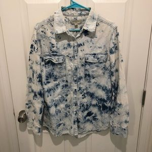 Bleached Denim button up Urban Outfitters